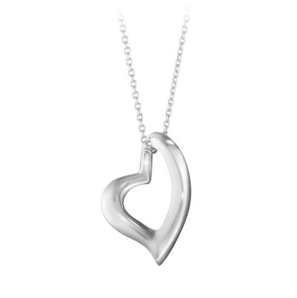 Mestergull Heart Anheng i sølv GEORG JENSEN Heart Anheng