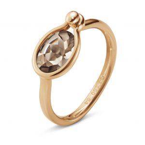 Mestergull Savannah Small Ring i 18 K Rosé gull med Røkkvarts GEORG JENSEN Savannah Ring