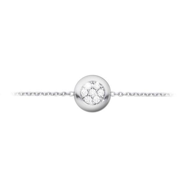 Mestergull Aurora Armbånd i 18 K Hvittgull med brilliantslipte diamanter GEORG JENSEN Aurora Armbånd