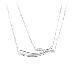 Mestergull Marcia halssmykke i sølv med diamanter GEORG JENSEN Marcia Anheng