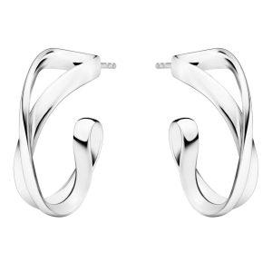 Mestergull Infinity øreringer i sølv GEORG JENSEN Infinity Ørepynt