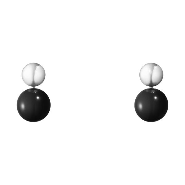 Mestergull Grape Drop Ørepynt i sølv med onyx GEORG JENSEN Grape Ørepynt