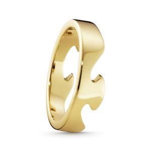 Mestergull Fushion End Ring i 18 K Gult Gull GEORG JENSEN Fusion Ring