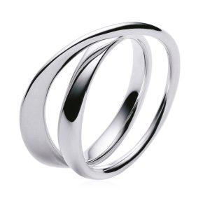 Mestergull Moebius Ring i sølv GEORG JENSEN Moebius Ring