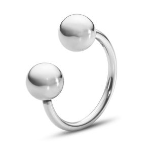 Mestergull Grape Open Ring i sølv GEORG JENSEN Grape Ring