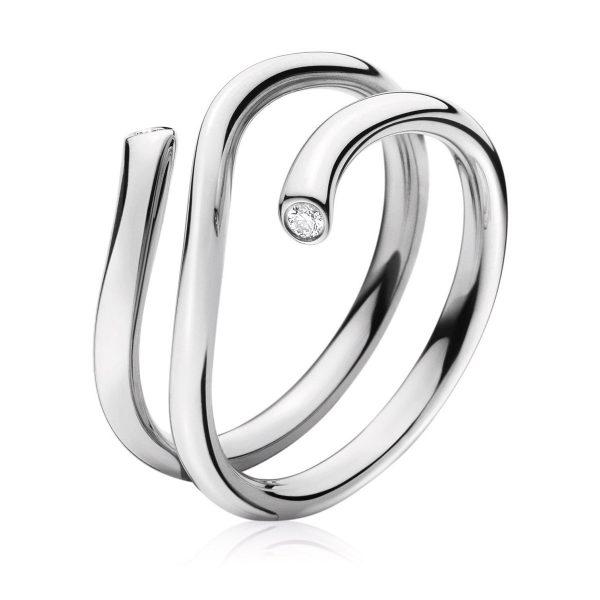 Mestergull Magic ring i 18kt. hvitt gull og diamanter GEORG JENSEN Magic Ring