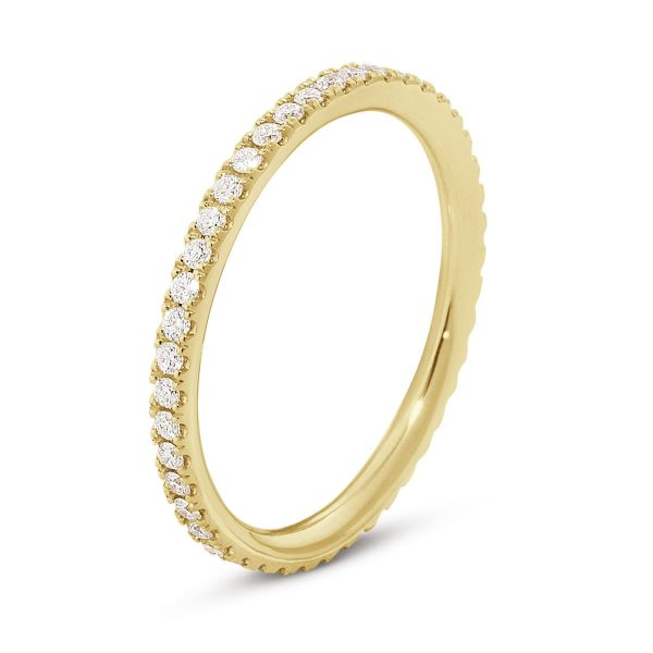 Mestergull Aurora Ring i 18 K Gult gull med diamanter GEORG JENSEN Aurora Ring