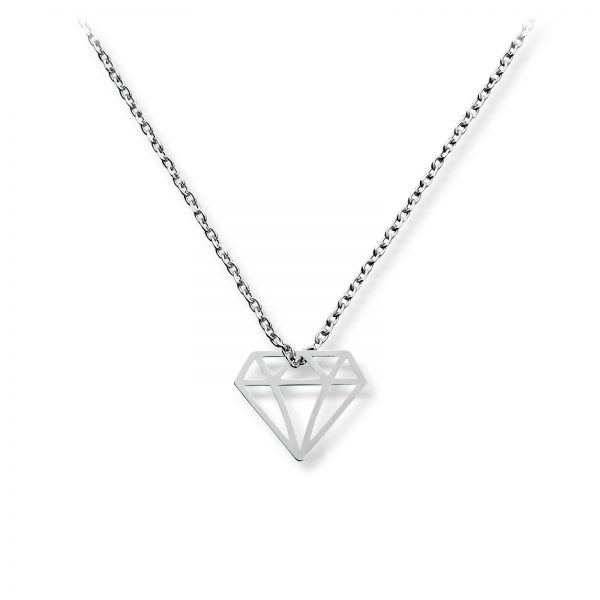 Mestergull Delikat anheng i rhodinert sølv med diamantsymbol GID Anheng