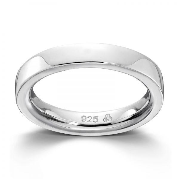 Mestergull Flott sølv glatt ring GID Ring