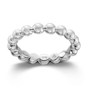 Mestergull Sølv ring med kuler. Denne er fin i kombinasjon med flere ringer fra GID Stackable. GID Stackable Ring