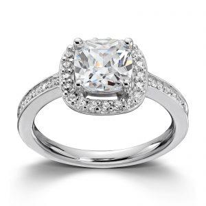 Mestergull Tidløs ring i rhodinert sølv med hvite cubic zirkonia GID Ring
