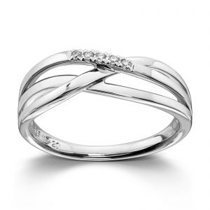 Mestergull Fin ring i hvitt gull med diamanter MG DIAMONDS Ring