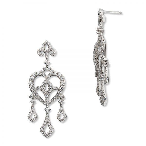 Mestergull Elegante og lekre ørepynt i hvitt gull med 206 diamanter MG DIAMONDS Ørepynt