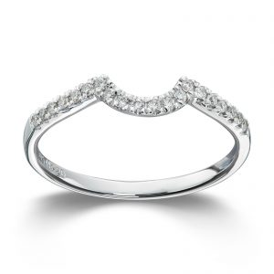 Mestergull Lekker rekkering i hvitt gull med diamanter til Prinsesse MG DIAMONDS Ring