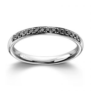Mestergull Tidløs ring i hvitt gull med sorte diamanter MG DIAMONDS Ring