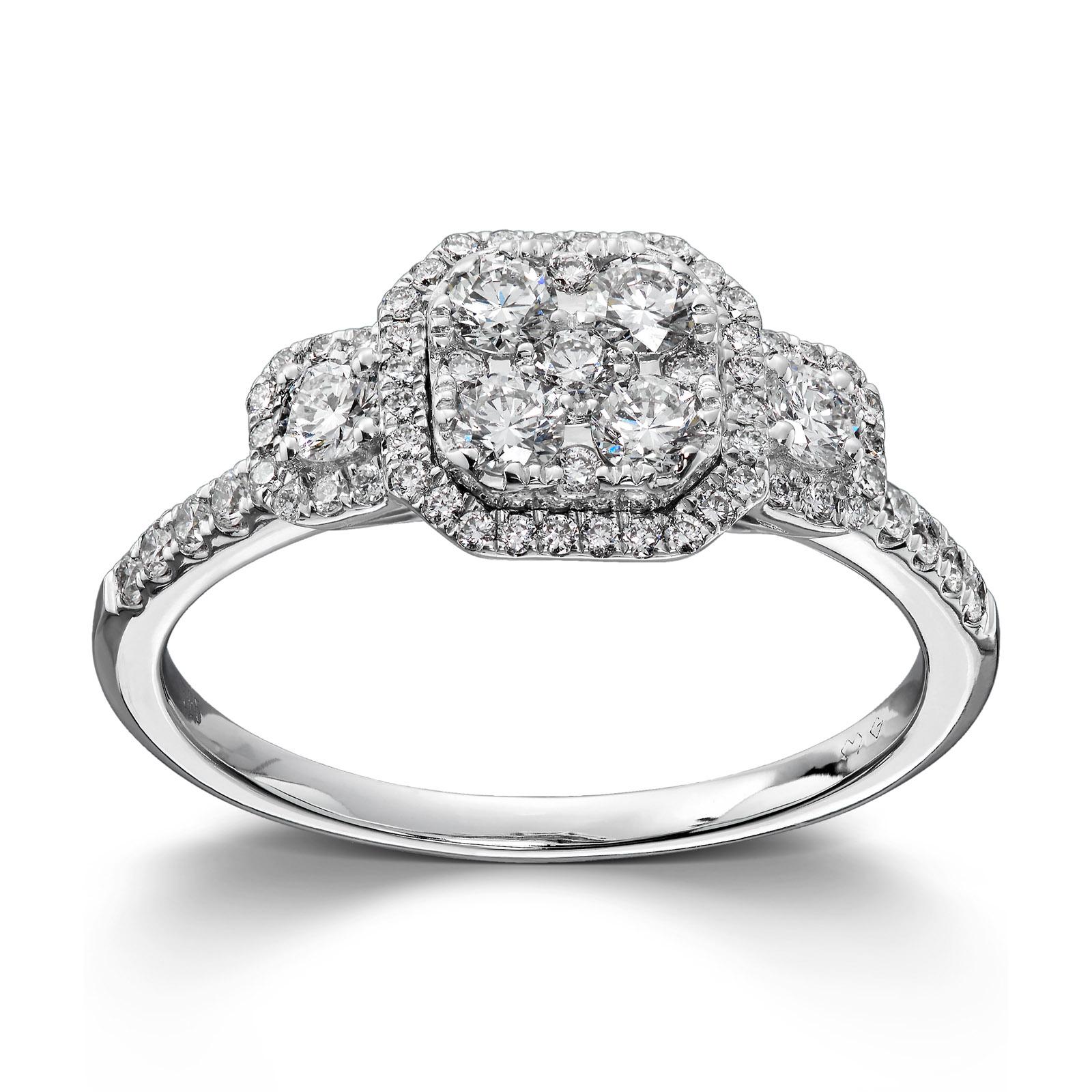 51897edd Mestergull Vakker ring i hvitt gull med diamanter MG DIAMONDS Ring