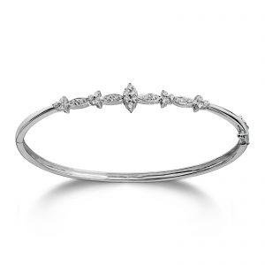 Mestergull Vakker armring i hvitt gull med diamanter MG DIAMONDS Armbånd