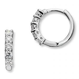 Mestergull Klassiske øreringer i hvitt gull med diamanter MG DIAMONDS Ørepynt