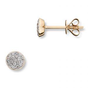 Mestergull Elegant ørepynt i gult gull med diamanter MG DIAMONDS Ørepynt