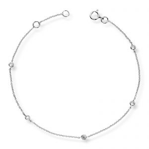 Mestergull Vakkert armbånd i hvitt gull med diamanter MG DIAMONDS Armbånd