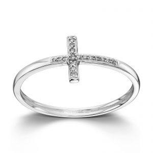 Mestergull Tøff ring i hvitt gull med diamanter MG DIAMONDS Ring