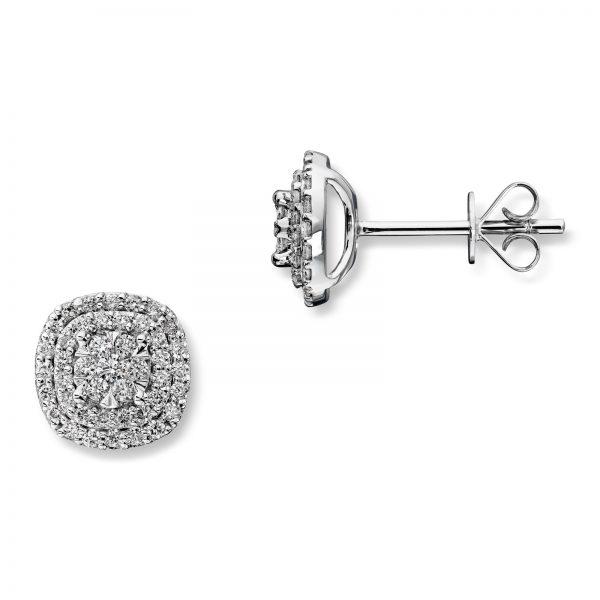 Mestergull Elegant ørepynt i hvitt gull med diamanter MG DIAMONDS Ørepynt