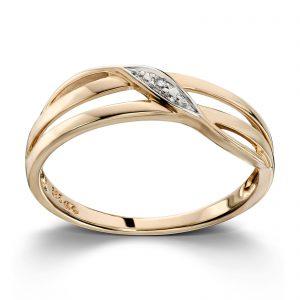 Mestergull Fin ring i gult gull med diamant MESTERGULL Ring