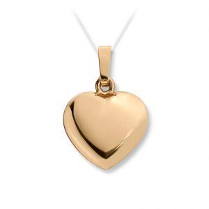Mestergull Enkelt hjerteanheng stort i gult gull MG BASIC Anheng
