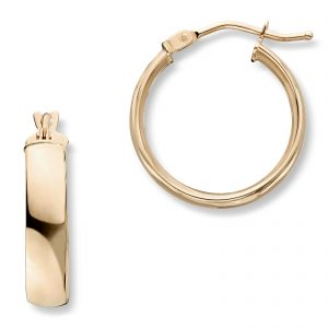 Mestergull Tidløse øreringer i gult gull MG BASIC Ørepynt