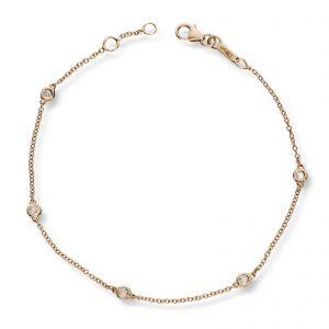 Mestergull Flott armbånd i gult gull med diamanter MG DIAMONDS Armbånd