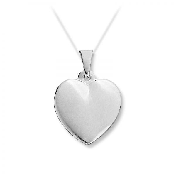 Mestergull Enkelt hjerteanheng i hvitt gull MG BASIC Anheng