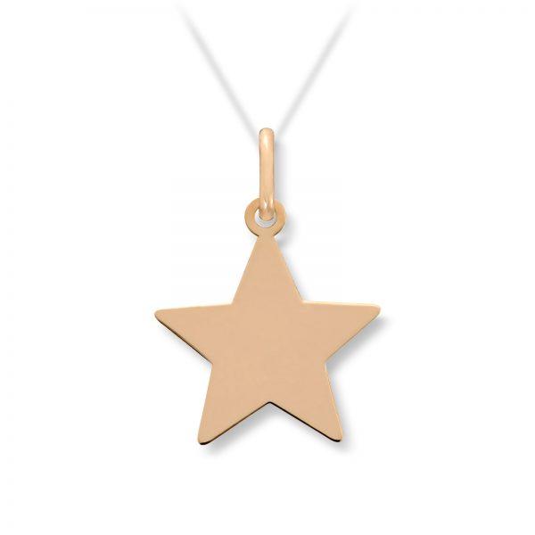 Mestergull Flott anheng stjerne i gult gull MESTERGULL Anheng