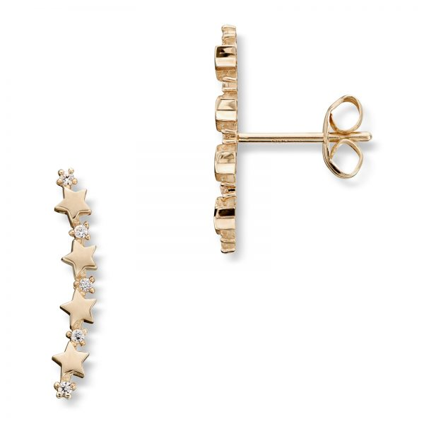 Mestergull Elegant ørepynt i gull med cubic zirkonia MESTERGULL Ørepynt