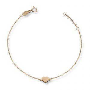 Mestergull Stilrent hjertearmbånd i gult gull MG BASIC Armbånd