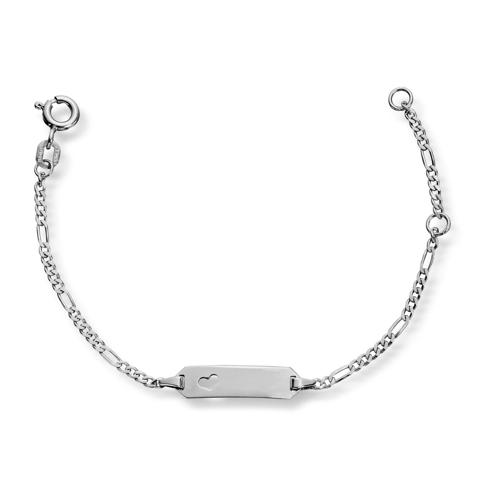 Mestergull Barnearmbånd i sølv med ID-plate MG BASIC Armbånd