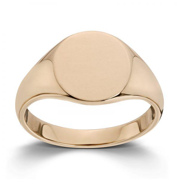Mestergull Enkel signetring i gult gull MESTERGULL Ring
