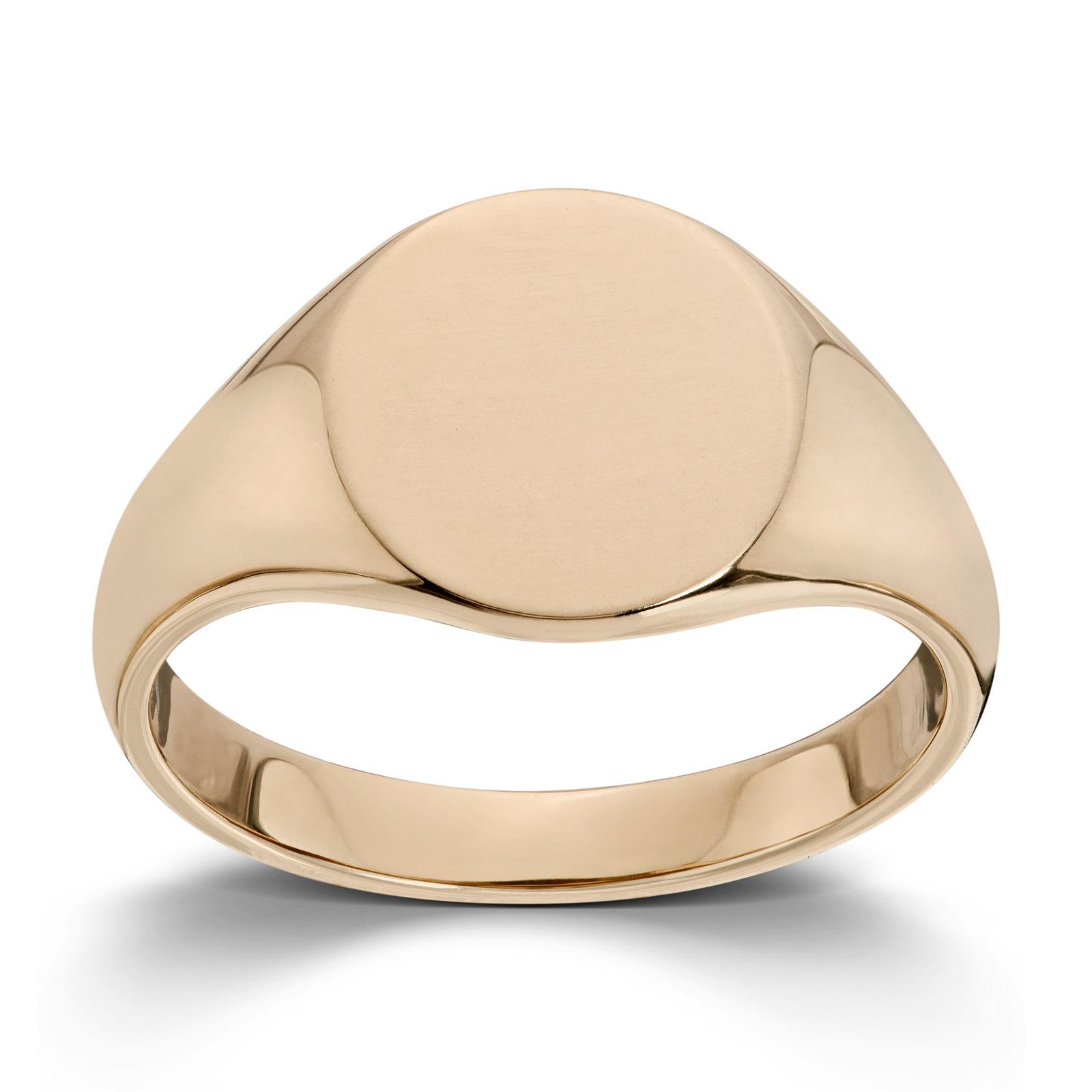 cdb675dd Mestergull Enkel signetring i gult gull MESTERGULL Ring