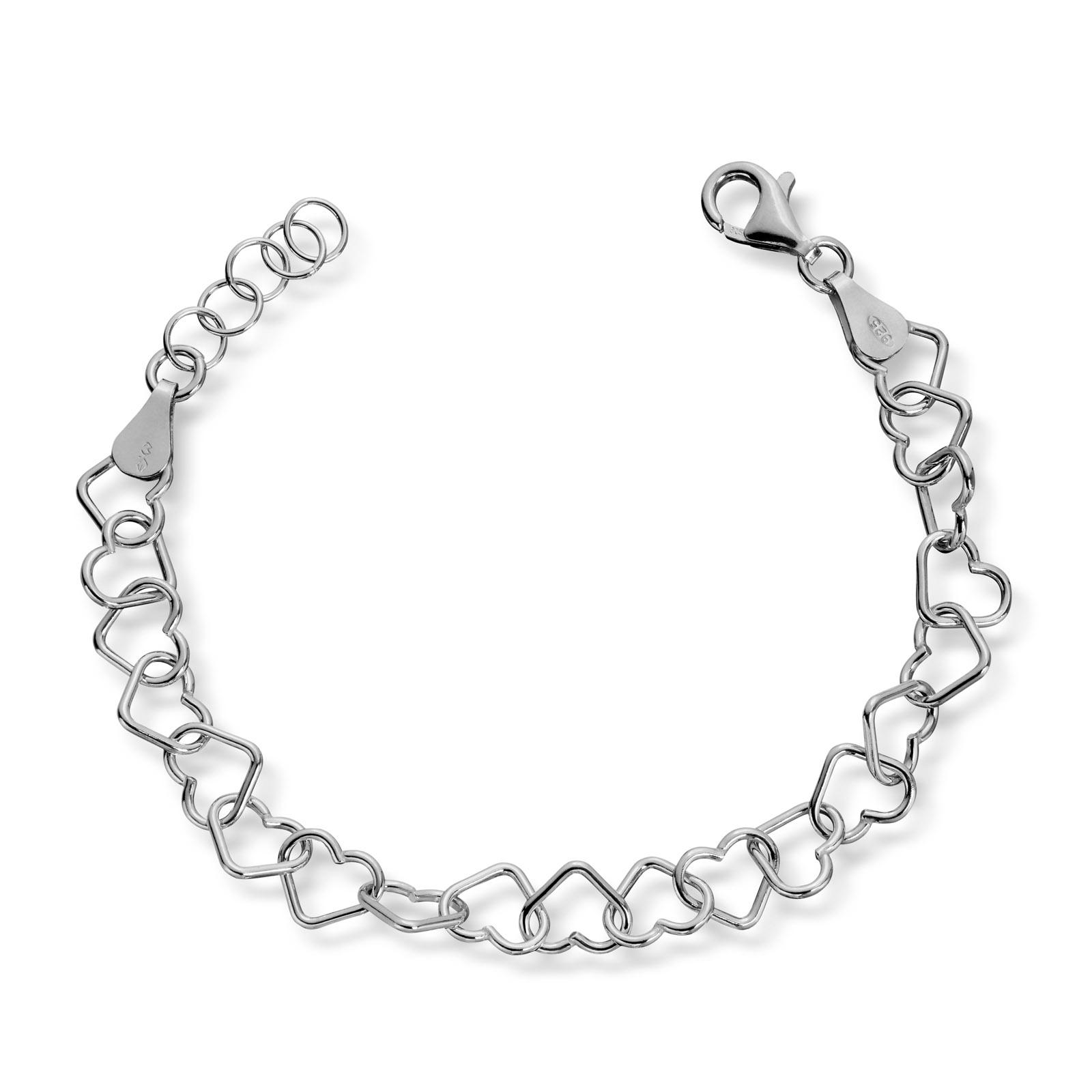Mestergull Tøft armbånd i sølv med hjerter MG BASIC Armbånd