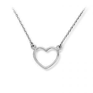 Mestergull Nydelig hjertekjede i sølv MG BASIC Anheng