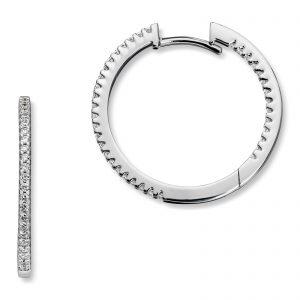 Mestergull Elegante øreringer i hvitt gull med diamanter MG DIAMONDS Ørepynt