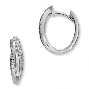 Mestergull Stilrene øreringer i hvitt gull med diamanter MG DIAMONDS Ørepynt
