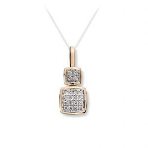 Mestergull Lekket anheng i gult gull med diamanter MG DIAMONDS Anheng