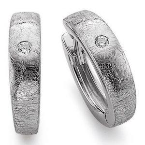 Mestergull Fin ørepynt i rhodinert sølv med cubic zirkonia VIVENTY Ørepynt