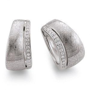 Mestergull Fine øreringer i rhodinert sølv med cubic zirkonia VIVENTY Ørepynt