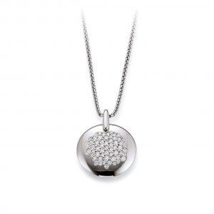 Mestergull Fint anheng i rhodinert sølv med cubic zirkonia VIVENTY Anheng
