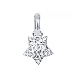 Mestergull Charm Magic Star Sweet Drops i 18 kt. hvitt gull med 27 diamanter totalt 0,53 ct. TwVs LYNGGAARD Sweet Drops Charm