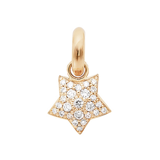 Mestergull Charm Magic Star Sweet Drops i 18 kt. rosé gull med 27 diamanter totalt 0,53 ct. TwVs LYNGGAARD Sweet Drops Charm