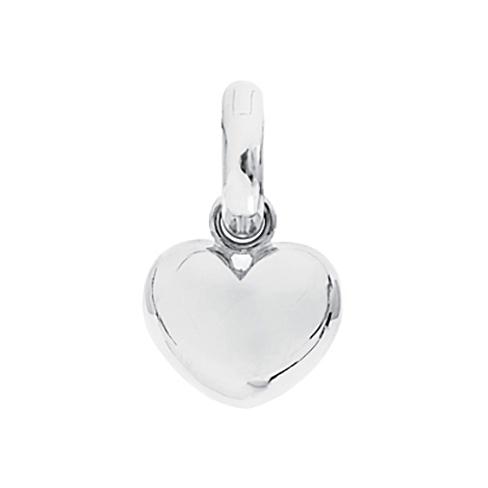 Mestergull Charm Heart Sweet Drops i Hvitt gull med en diamant LYNGGAARD Sweet Drops Charm