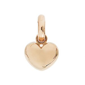 Mestergull Charm Heart Sweet Drops i Rosé gull med en diamant LYNGGAARD Sweet Drops Charm