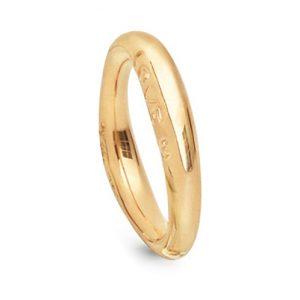 Mestergull Love Ring nr. 3 i 18 kt. Gult gull med blank overflate LYNGGAARD Love Ring